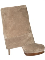 CASADEI - 100MM SUEDE REVERSE BOOTS